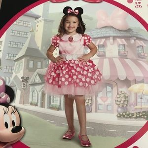 Other - Minnie Mouse costume 2t pink dress with ears